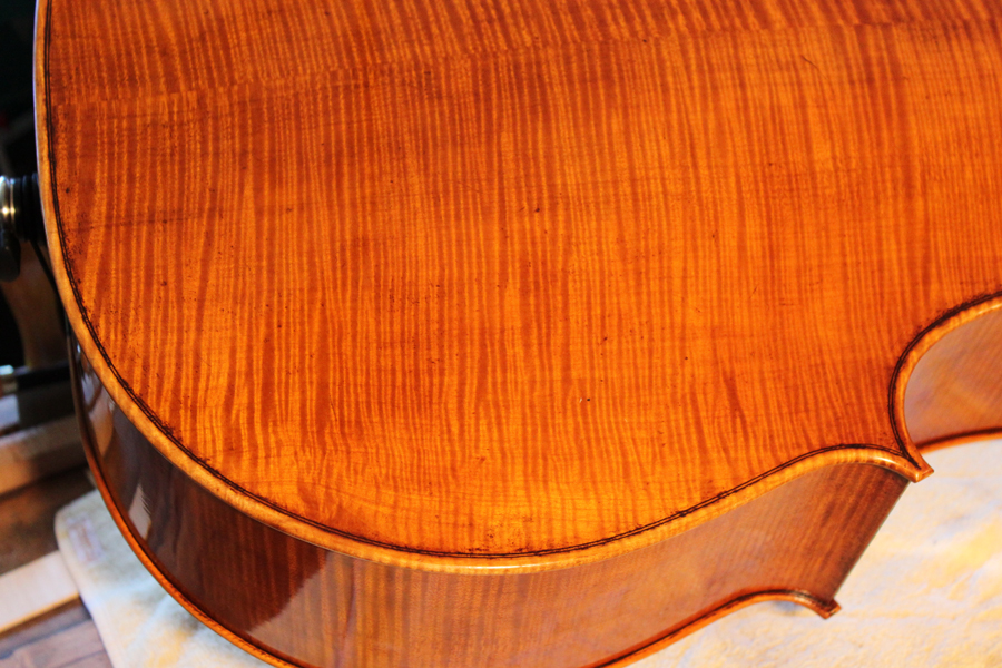 Cello back with varnish.