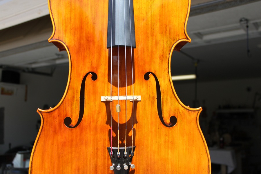 Cello top view.